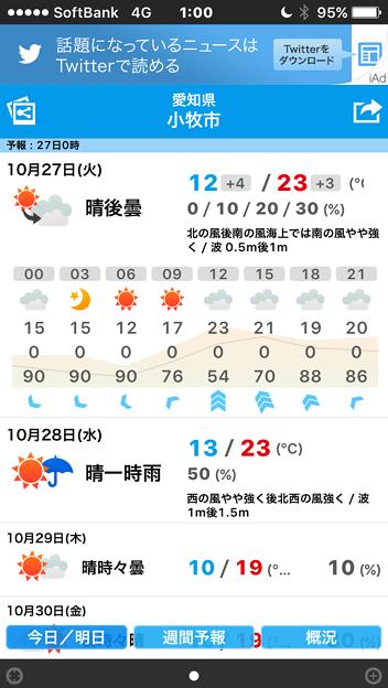 そら案内 4.1.4 No - 1:今日・明日の天気