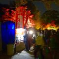 写真: 東山動植物園 紅葉ライトアップ 2015 No - 73:合掌造りの家前に今年は「鬼饅頭」と「ぜんざい」の屋台
