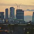 写真: エアポートウォーク名古屋から見た、夕暮れ時の名駅ビル群 - 4