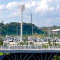 写真: 愛・地球博記念公園:グローバルループ越しに見た、瀬戸デジタルタワー - 3