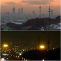 Photos: 桃花台ニュータウン(小牧市)から見た名駅ビル群の2005年・2015年比較 - 7