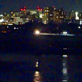 写真: 吉根橋から見た、夜の庄内川沿い - 3