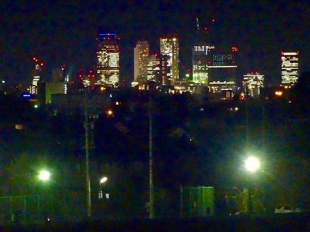 吉根橋から見た、夜の名駅ビル群 - 3