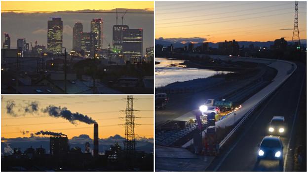 Photos: 吉根橋(庄内川)から見た夕焼け