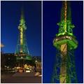 Photos: これまででもっとも緑?…な、名古屋テレビ塔のイルミネーション - 6