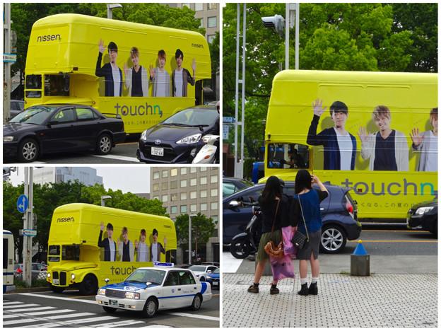 「nissen」を宣伝する2階建てバス(?)のラッピングバス - 5