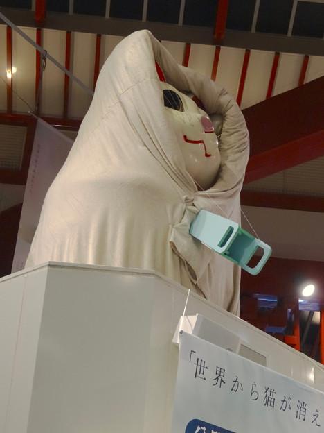 映画『世界から猫が消えたなら』コラボで布団かぶってる(?)、大須の招き猫 - 4