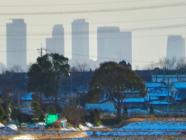 小牧市大草から見えた名駅ビル群 - 4