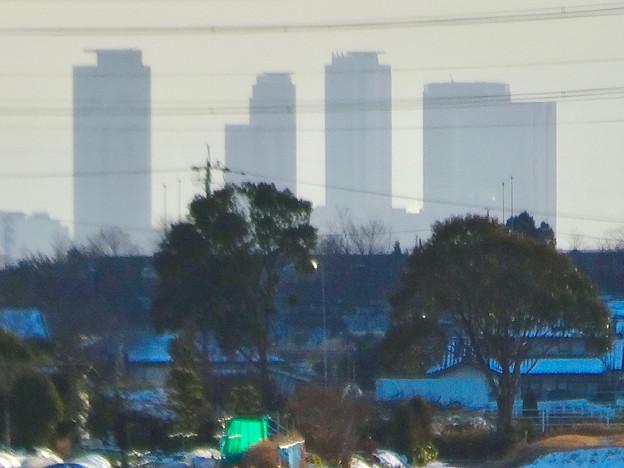 小牧市大草から見えた名駅ビル群 - 5