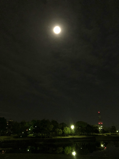 iPhone 8で撮影した皆既月食:欠け始め - 3