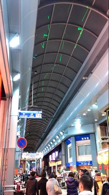 大須商店街のアーケードにレーザー光線?! - 5