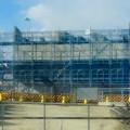 写真: 桃花台線の桃花台中央公園南側高架撤去工事(2018年2月4日):中央道走る高速バス車内から見た工事現場 - 3