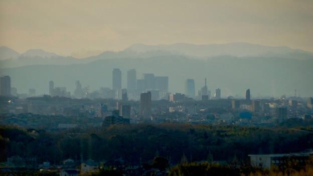 写真: 愛・地球博記念公園駅から見えた夕暮れ時の名駅ビル群 - 1