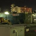 写真: 桃花台線の桃花台中央公園南側高架撤去工事(2018年2月7日):割りと早く進む撤去 - 3