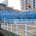 写真: 桃花台線の桃花台中央公園南側高架撤去工事(2018年2月11日) - 2