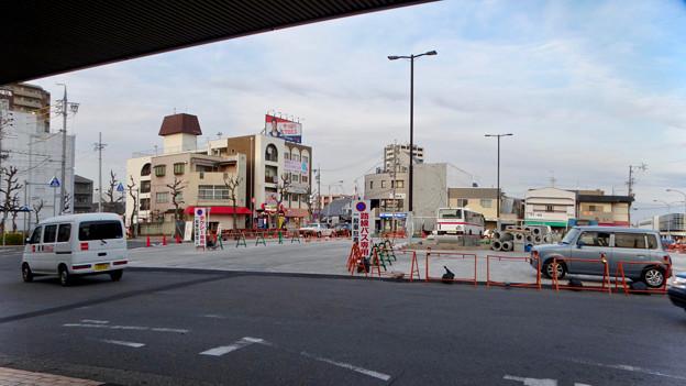 まだかなり工事してた、JR春日井駅北口前(2018年2月14日) - 3:ロータリー中央部