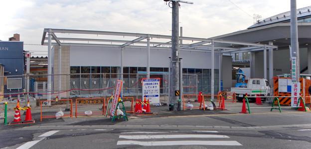 まだかなり工事してた、JR春日井駅北口前(2018年2月14日) - 6:東側にもコンビニ?