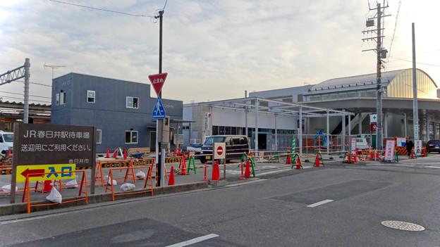 まだかなり工事してた、JR春日井駅北口前(2018年2月14日) - 8:建設途中の春日井駅前交番