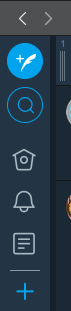 TweetDeck:ツイートボタンと検索ボタンが丸くなる…