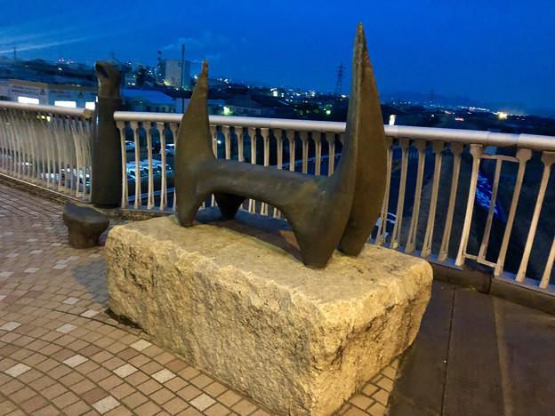 庄内川に架かる橋の名二環横の歩道 - 9:奇妙なオブジェ