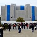 ポケモンGoのイベント「コミュニティデイ」開催でたくさんの人が集まっていた鶴舞公園(2018年2月24日) - 4:改修中の名古屋市公会堂前