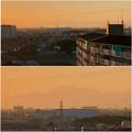 県営岩崎住宅(岩崎団地)から見えた伊吹山 - 5