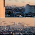 県営岩崎住宅(岩崎団地)から見た名駅ビル群とザ・シーン城北 - 5