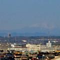 写真: 県営岩崎住宅から見た御嶽山(2018年3月12日) - 1