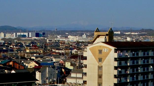 県営岩崎住宅から見た御嶽山(2018年3月12日) - 4