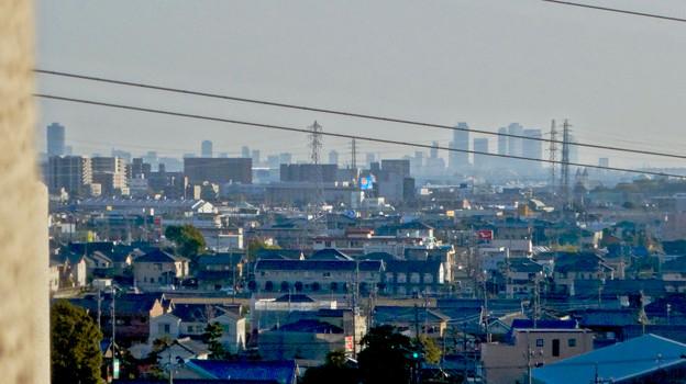 県営岩崎住宅から見た名駅ビル群 - 2