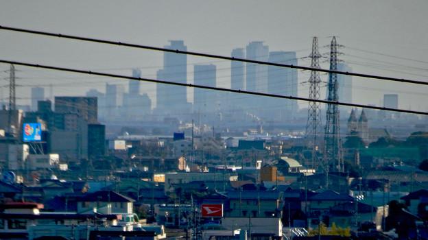 県営岩崎住宅から見た名駅ビル群 - 3