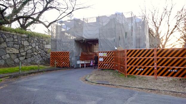 改修工事中だった名古屋城 二之丸大手二之門 - 1