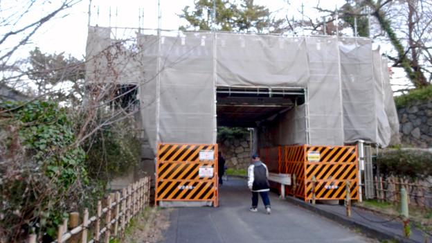 改修工事中だった名古屋城 二之丸大手二之門 - 3