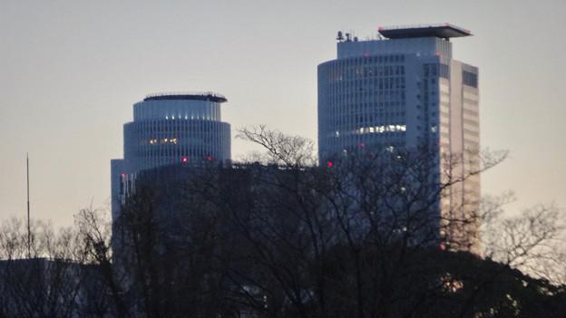 名古屋城正門近くから見上げた名駅ビル群 - 3