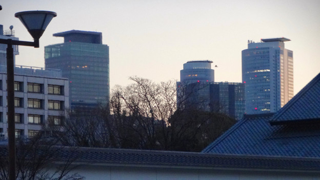 写真: 名古屋城正門近くから見上げた名駅ビル群 - 5