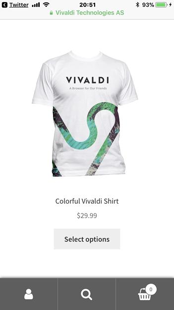 シンプルで使い勝手が良さそうなVivaldi公式ストアのモバイル表示 - 1