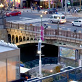 昨年9月に開業した「テラッセ納屋橋」 - 22:屋上テラスから見下ろした納屋橋