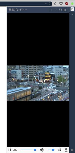 写真: Vivaldi WEBパネル:HTML5のメディアプレヤーを表示! - 8(動画を全画面再生)