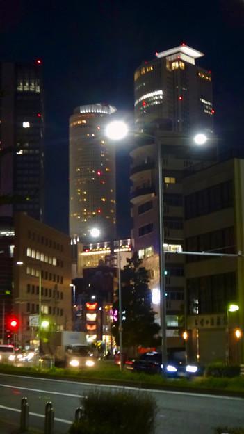 名古屋駅の北東側から見た夜の名駅ビル群 - 4