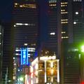 名古屋駅の北東側から見た夜の名駅ビル群 - 6