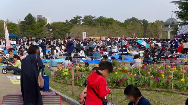 ものすごく沢山の花見客がいた鶴舞公園(2018年4月1日) - 11