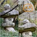 写真: 東山動植物園:パンプキン顔(ジャック・オー・ランタン)が浮かび上がって見えた中国庭園の石灯籠 - 17
