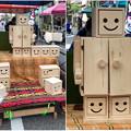 覚王山春祭 2018 No - 13:可愛らしいロボット風の小型タンスと収納ボックス