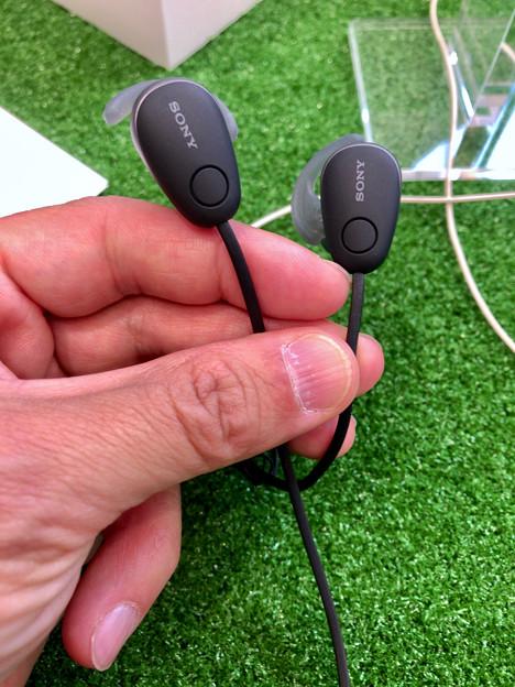 ソニーの無線ノイキャン機能付きイヤホン「WI-SP600N」 - 1