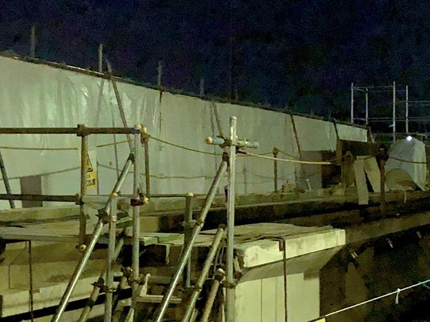 桃花台線の旧・車両基地進入高架撤去工事(2018年4月20日) - 5:コンクリ部分はほとんど撤去済み