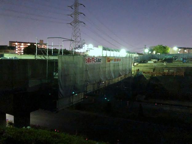 桃花台線の旧・車両基地進入高架撤去工事(2018年4月20日) - 11