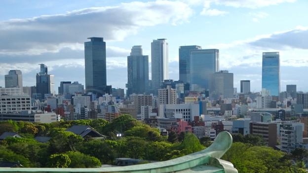 名古屋城天守閣から見た名駅ビル群 - 2