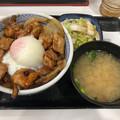 写真: 吉野家:鶏すき丼(お新香味噌汁セット) - 1