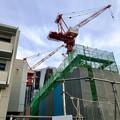 建設工事中の小牧市民病院の新しい建物(2018年4月26日) - 2:巨大クレーン