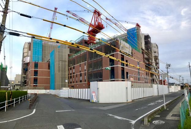 建設工事中の小牧市民病院の新しい建物(2018年4月26日) - 8:パノラマ